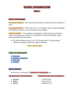 PHIL 2306 - Class Notes - Week 1