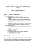 UNM - GEOL 101 - Study Guide - Midterm