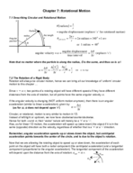 UNM - PHYS 151 - Class Notes - Week 8