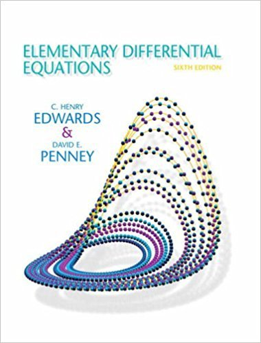 Elementary Differential Equations | 6th Edition | ISBN: 9780132397308 | Authors: C. Henry Edwards David E. Penney