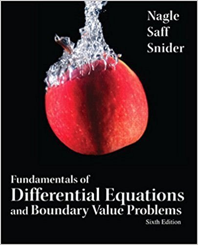 Fundamentals of Differential Equations and Boundary Value Problems | 6th Edition | ISBN: 9780321747747 | Authors: Kent Nagle