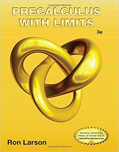 Precalculus with Limits | 3rd Edition | ISBN: 9781133947202 | Authors: Ron Larson