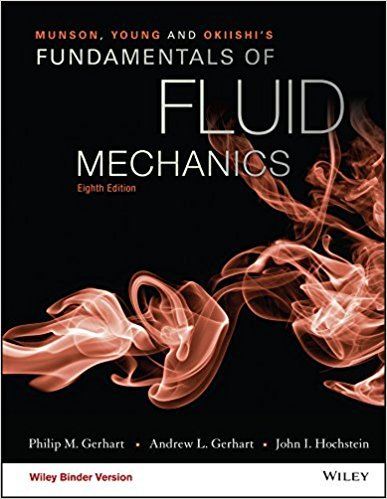 Fundamentals of Fluid Mechanics | 8th Edition | ISBN: 9781119080701 | Authors: Philip M. Gerhart, Andrew L. Gerhart, John I. Hochstein