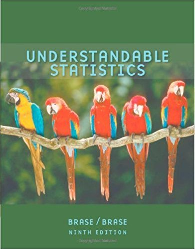Understandable Statistics | 9th Edition | ISBN: 9780618949922 | Authors: Charles Henry Brase, Corrinne Pellillo Brase