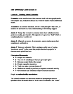 What are the examples of principles of economics?